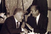Les PM Yitzhak Shamir et Jacques Chirac