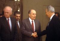 Yitzhak Rabin, Francois Mitterand et Shimon Pérès