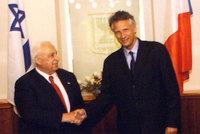 Les Premiers Minstres Ariel Sharon et Dominique de Villepin