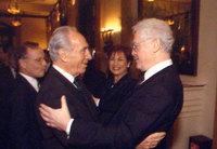 Les PM Shimon Pérès et Lionel Jospin