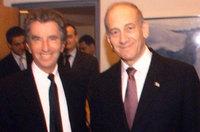 Jacques Lang et Ehud Olmert