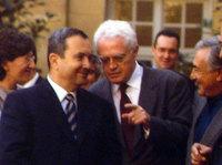 Ehud Barak, Lionel Jospin et Dominique Strauss-Kahn
