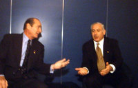 Jacques Chirac et Benjamin Netanyahou
