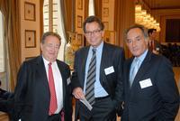 Direction de la CCFI, Henri Cukierman, André Maarek et Michel Hauser-Kauffmann