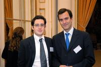 Johan Drylewicz, Président du Junior Consulting Club et Max-David Ghozlan, ancien Président du Young Business Club de la CCFI